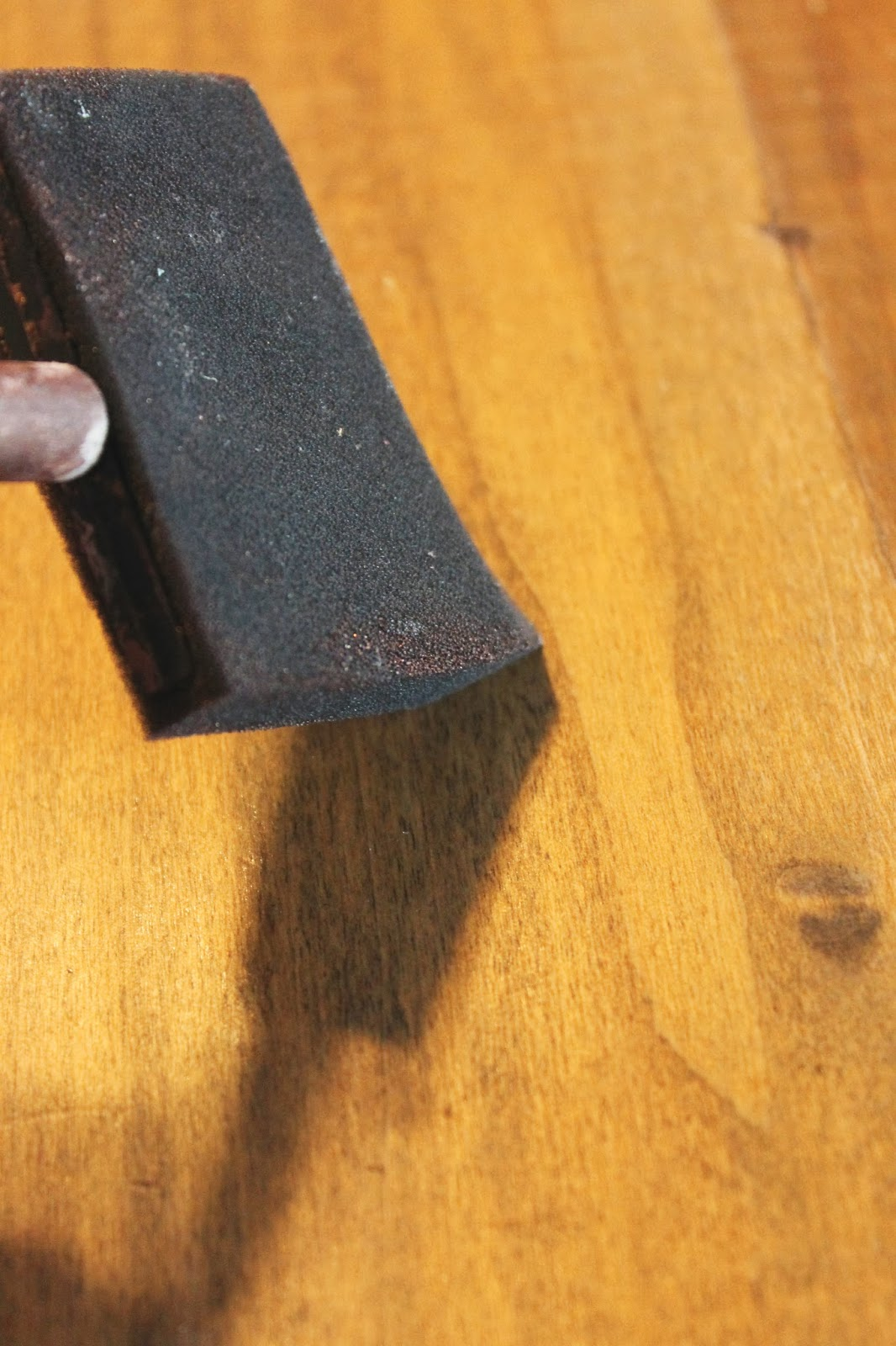 use layers of stain to build color on faux reclaimed wood counter, The  Ragged Wren - Remodelaholic How To Create Faux Reclaimed Wood Countertops