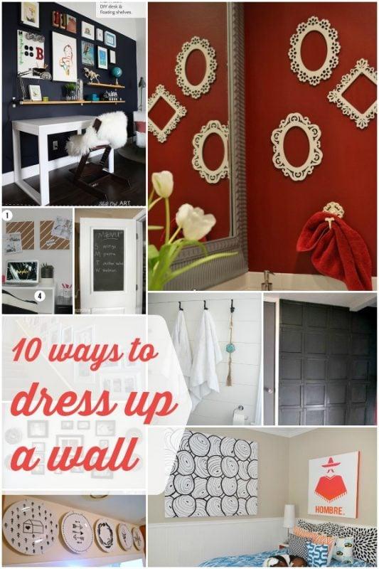 10 Wall Decor Ideas   Remodelaholic.com #decoration #wallart #accentwall
