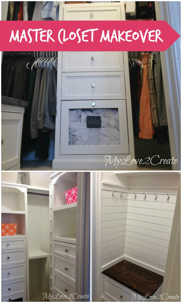 Remodelaholic amazing diy master closet renovation for Laundry room connected to master closet