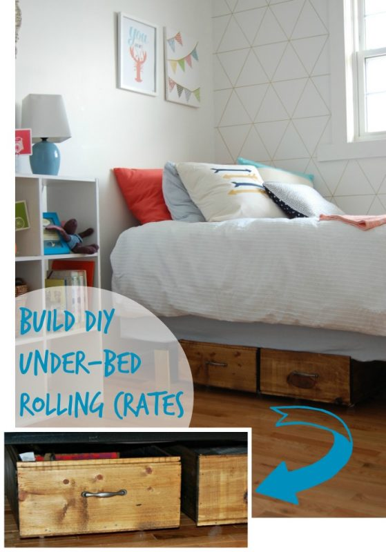 Build DIY Under-Bed Rolling Crates, DIY Passion on Remodelaholic