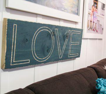 Carved Love Sign