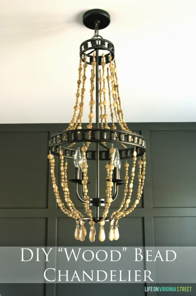 DIY Wood Bead Chandelier, Life on Virginia Street on Remodelaholic