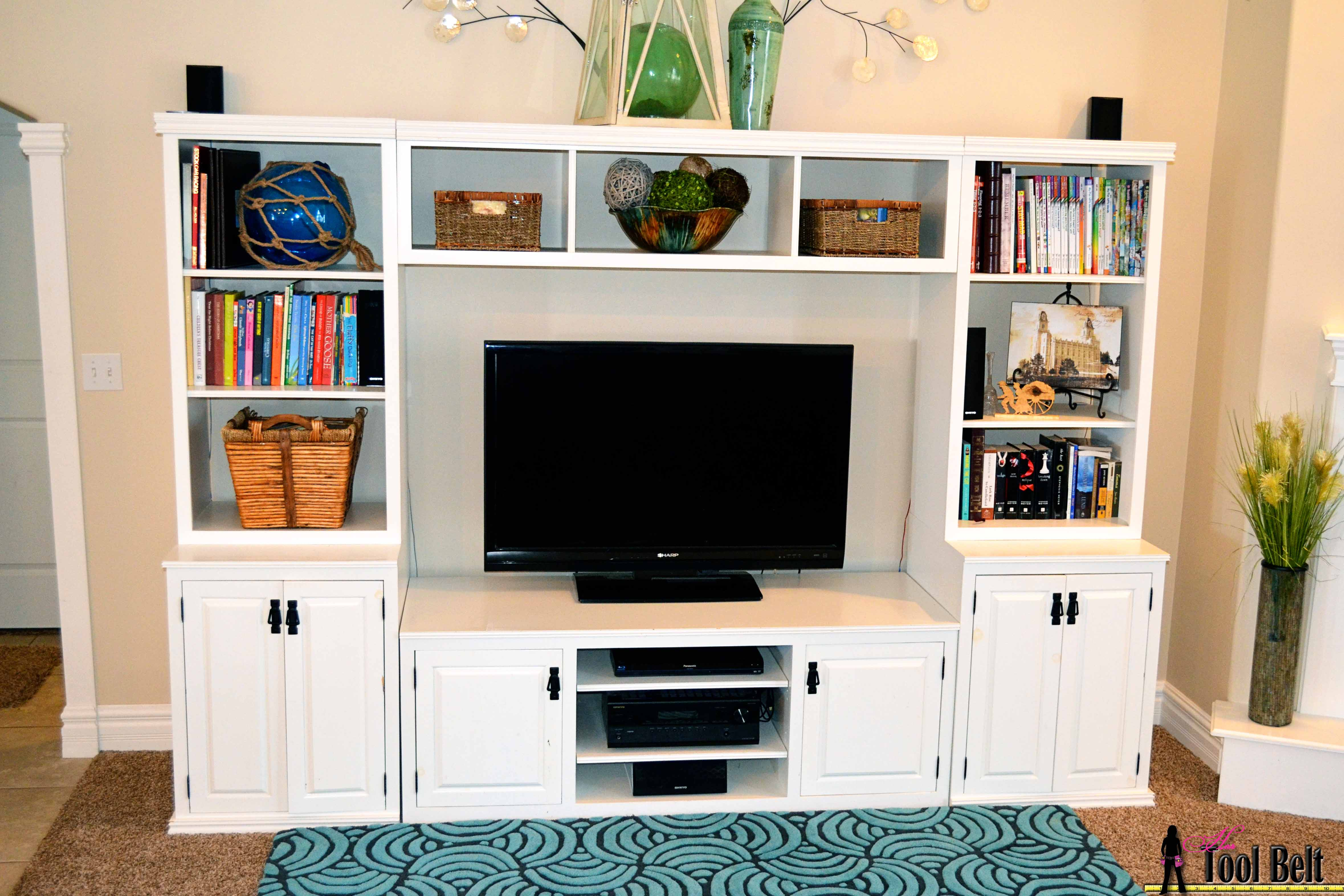 How To Build A Pottery Barn Inspired Media Center Her Tool Belt On Remodelaholic