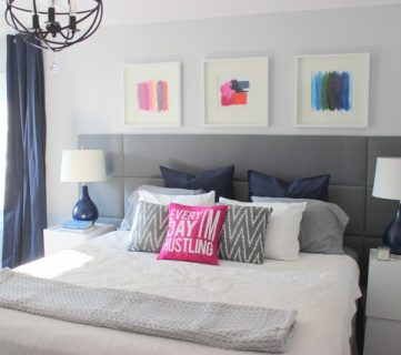 DIY Tufted Panel Headboard