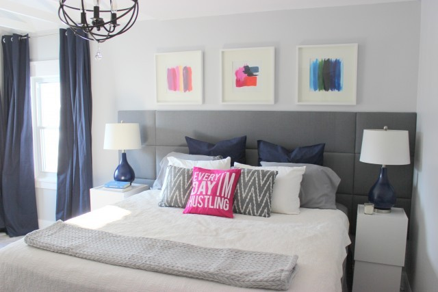 New DIY Tufted Panel Headboard Home Coming for Remodelaholic