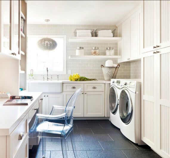 Large scale craft room and laundry room