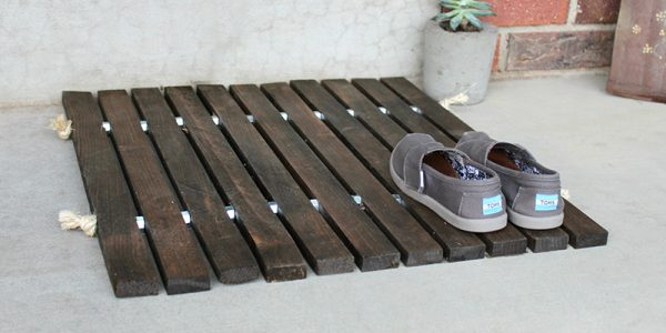 Wood Stake Doormat cropped