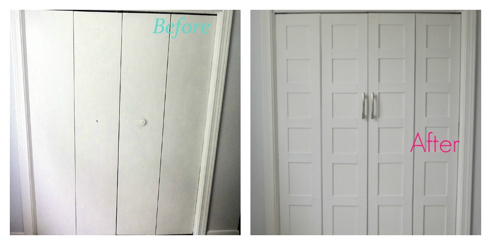 French Closet Doors Diy Before And After Closet Door Makeover