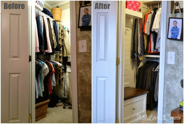 before and after master closet makeover, My Love 2 Create on Remodelaholic