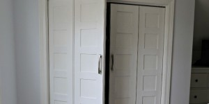 bifold to french door closet makeover