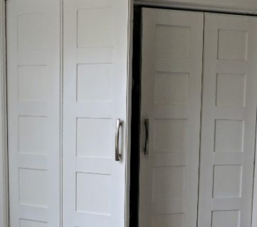 Bi-fold to Paneled French Door Closet Makeover