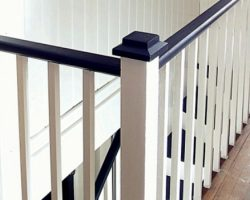 black painted staircase makeover, Chapter37 on Remodelaholic