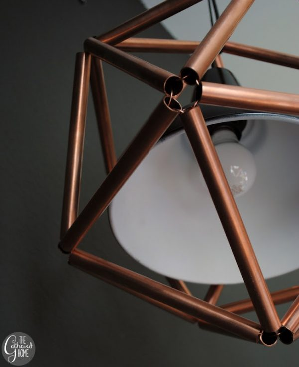 build a geometric copper pipe pendant light, The Gathered Home on Remodelaholic