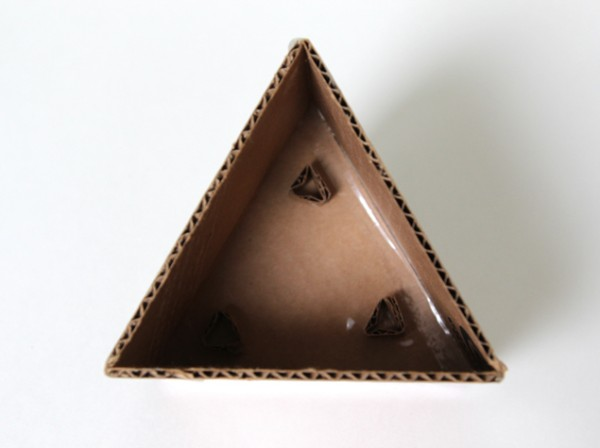 cardboard mold for geometric concrete planters, A Piece of Rainbow on Remodelaholic