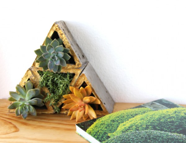 concrete geometric planter tutorial, A Piece of Rainbow on Remodelaholic