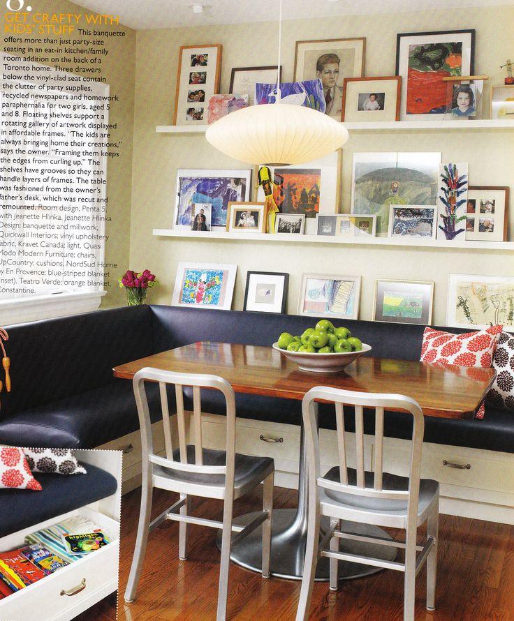 Banquette Corner Bench: Get This Look: Art Gallery Corner Banquette
