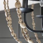 diy chandelier with faux wood beads, Life on Virginia Street on Remodelaholic