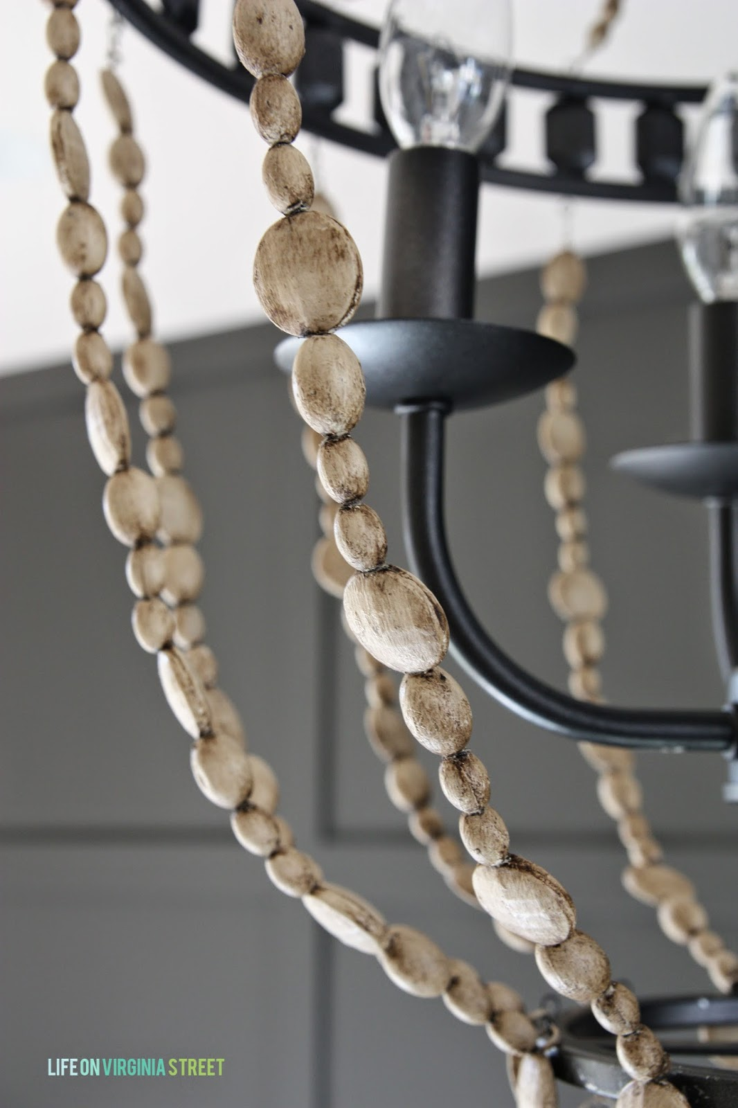 Diy Chandelier With Faux Wood