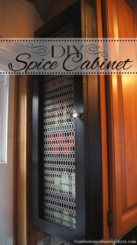 DIY Spice Cabinet | Confessions of a Serial DIYer on Remodelaholic.com