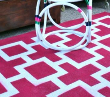 8 DIY Floor & Rug Tutorials + Link Party
