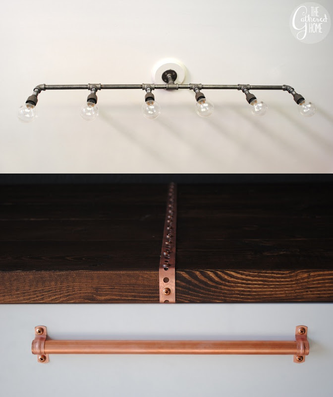 ... Diy Industrial Plumbing Pipe Light Fixture, The Gathered Home On  Remodelaholic