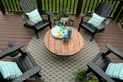 diy round outdoor table. diy patio coffee table from a bucket round outdoor