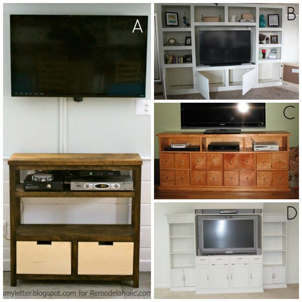 entertainment media centers on Remodelaholic