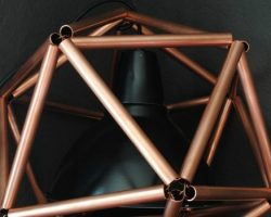 feature copper pipe icosahedron geometric pendant light tutorial, The Gathered Home on Remodelaholic
