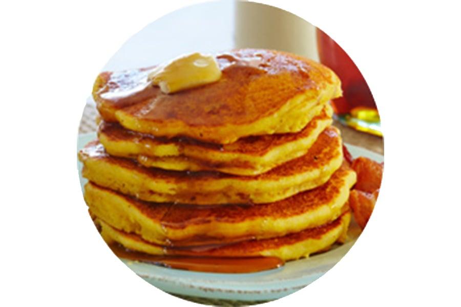 Bacon Cornbread Pancakes