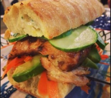 Grilled Salmon Sandwiches with Sherry Tarragon Mayo