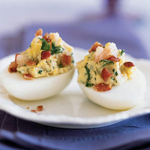 Pepper Jack Bacon Deviled Eggs