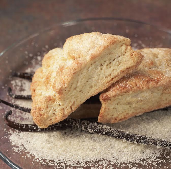 Vanilla Sugar-Crusted Scones