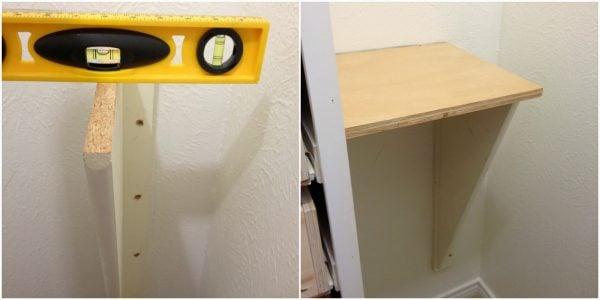 half wall shelf in master closet, My Love 2 Create on Remodelaholic