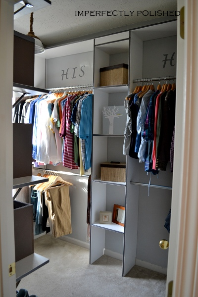 His And Hers Master Closet Redo  Imperfectly Polished On Remodelaholiccom