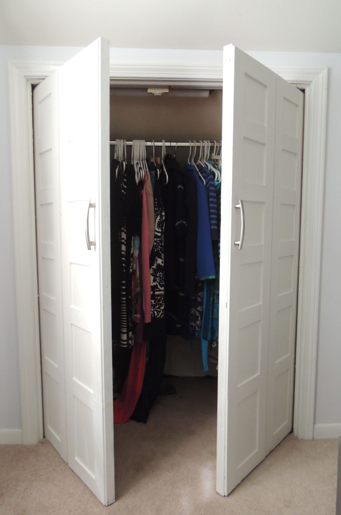 Bi Fold To Paneled French Door Closet Makeover