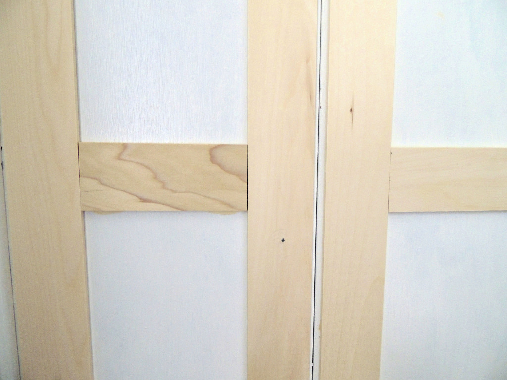 How To Update Flat Closet Doors To Paneled French Doors 2, Wife In Progress  On