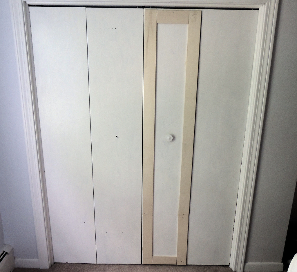 Remodelaholic bi fold to paneled french door closet makeover Ways to update wood paneling