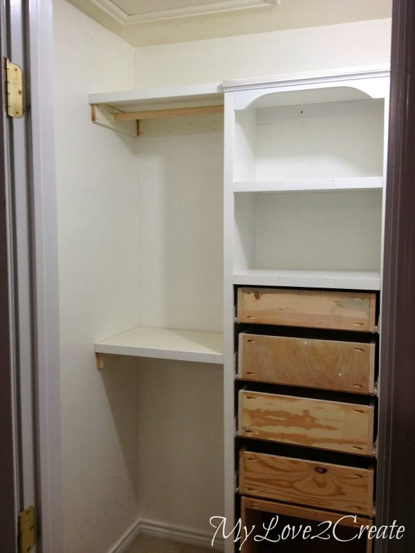 left side of master closet makeover, My Love 2 Create on Remodelaholic