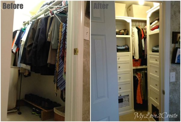 Master Closet Before And After, My Love 2 Create On Remodelaholic