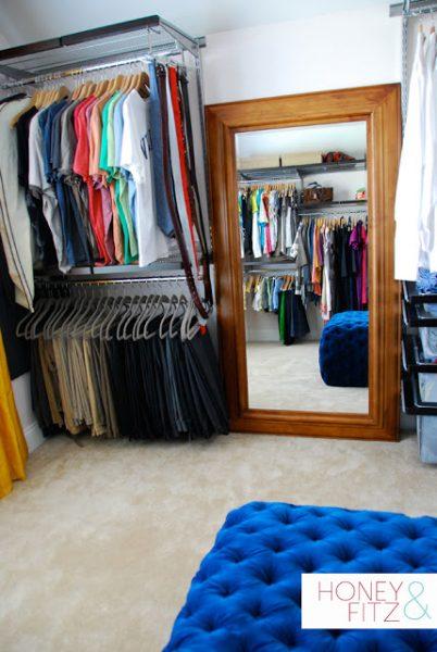 master closet dressing room makeover on Remodelaholic.com