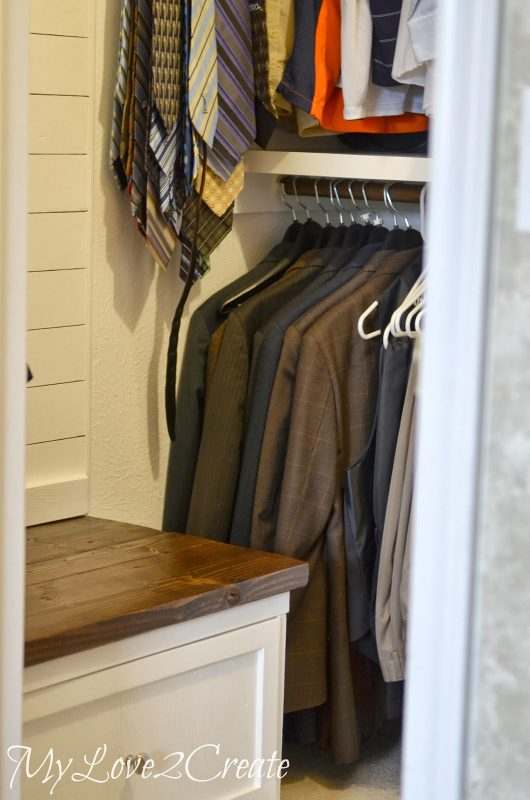 master closet hanging area, My Love 2 Create on Remodelaholic