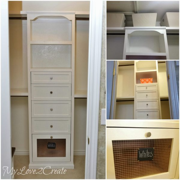 Amazing Master Closet Tower With Storage And Shelves, My Love 2 Create On  Remodelaholic