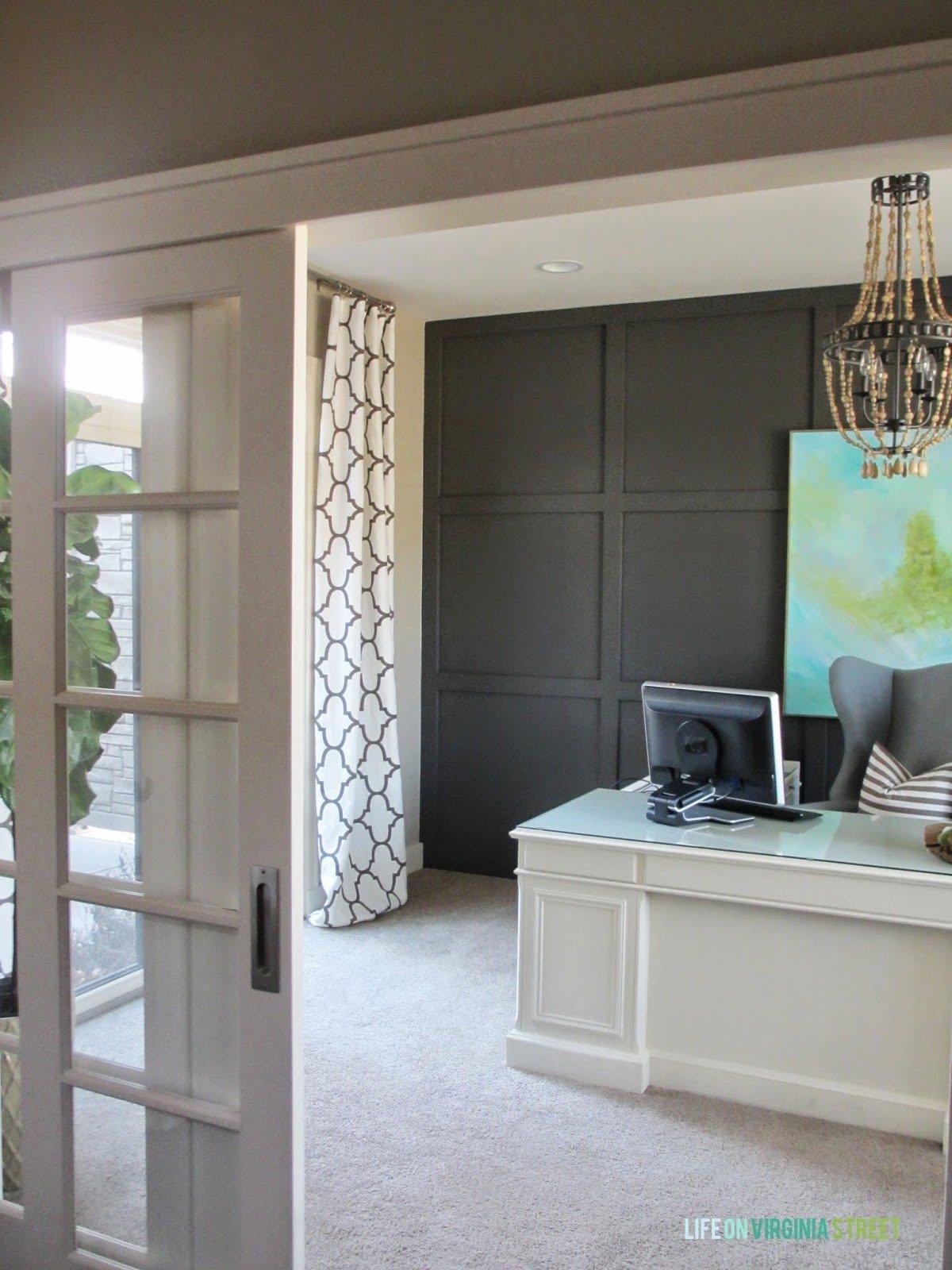 Home Office Makeover With DIY Wood Bead Chandelier | Remodelaholic |  Bloglovinu0027