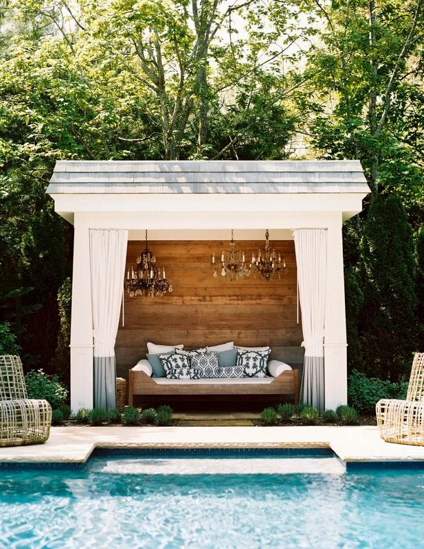 Remodelaholic cabana style bringing the resort into for Garden cabana designs