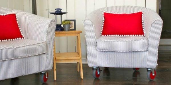 reupholster a tub chair tutorial