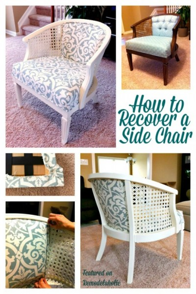 reupholster cane chair