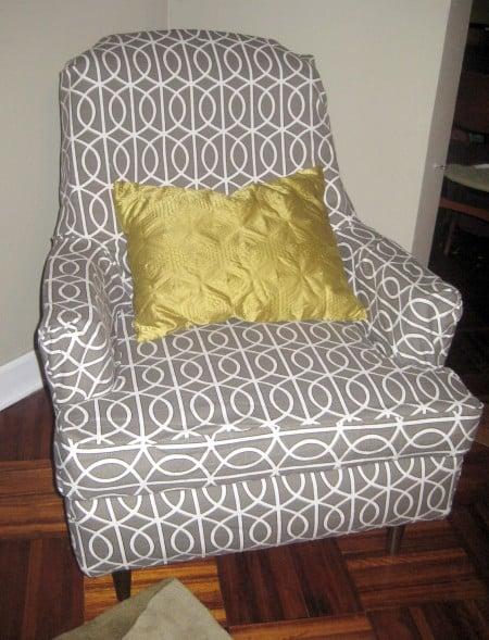 reupholster slip cover tutorial