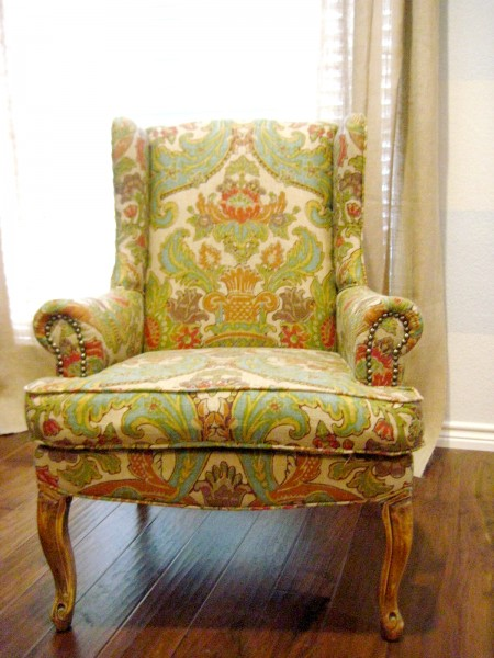 reupholster tips wingback chair