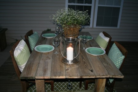 build a rustic outdoor dining table, Unexpected Elegance on Remodelaholic.com