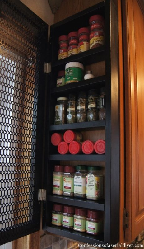 side of cabinet spice rack, Confessions of a Serial DIYer on Remodelaholic